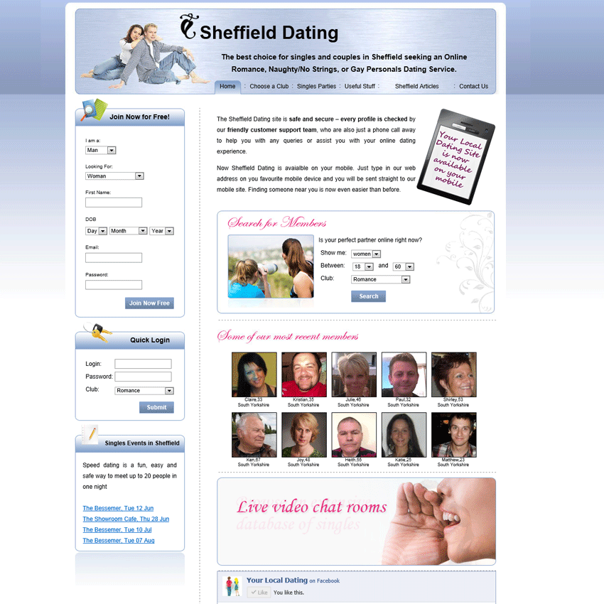 online dating sheffield Free online dating site it's still free when you're using it you're a diamond let's find your diamond now.